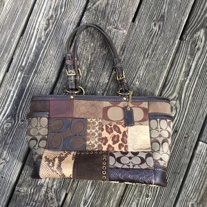 Coach Signature Patchwork Tote purse
